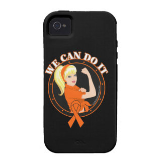 Leukemia We Can Do It (W.01) Case-Mate iPhone 4 Covers