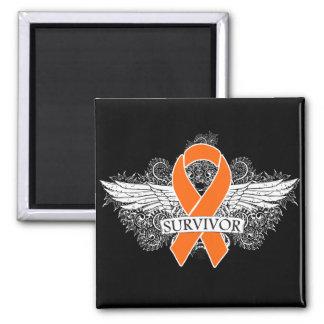 Leukemia Winged SURVIVOR Ribbon Fridge Magnet