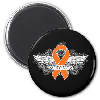 Leukemia Winged SURVIVOR Ribbon Magnets