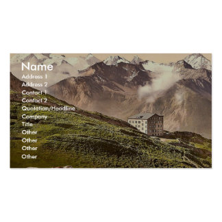 Leukerbad Torrenthorn Valais Alps of Switzerla Business Card Template