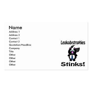 Leukodystrophies Stinks Skunk Awareness Design Business Card