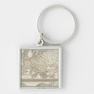 L'Europe 1789, 1813 Silver-Colored Square Keychain