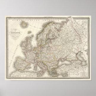 L'Europe Atlas Map Poster