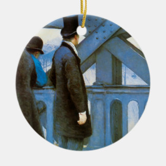 l'Europe de Le Pont de Gustave Caillebotte Adorno Navideño Redondo De Cerámica