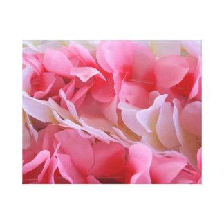 leus blancos rosados impresion de lienzo