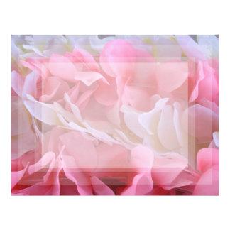 leus blancos rosados membrete a diseño