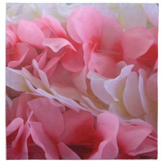 leus blancos rosados servilletas