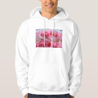 leus blancos rosados sudadera