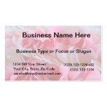 leus blancos rosados plantillas de tarjeta de negocio