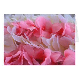 leus blancos rosados tarjeta pequeña