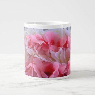 leus blancos rosados taza de café gigante