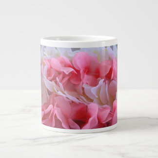 leus blancos rosados taza grande