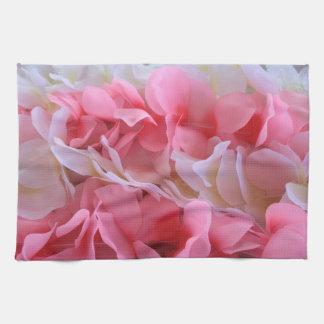 leus blancos rosados toalla de mano