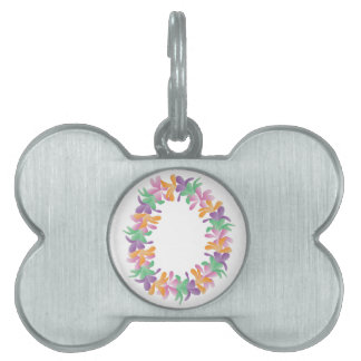 Leus de la flor placa mascota