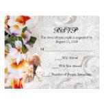 Leus de la orquídea del Plumeria en el boda de pla Invitacion Personalizada
