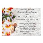Leus de la orquídea del Plumeria en el boda de pla Anuncio Personalizado