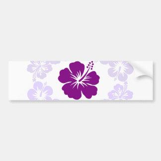 Leus púrpuras del hibisco pegatina para auto