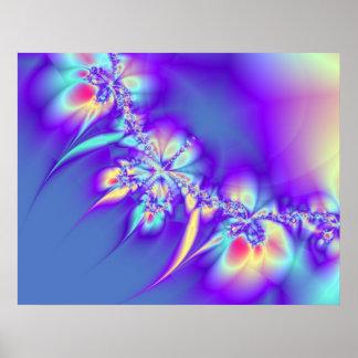 Leus púrpuras impresiones