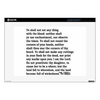 Lev. 19: 26 laptop decal
