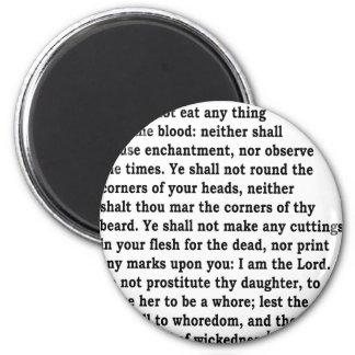 Lev. 19: 26 magnet