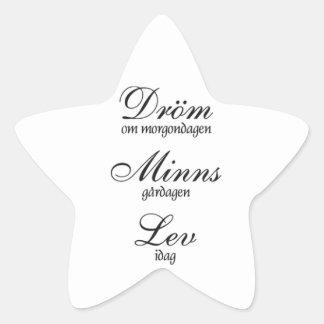 Lev de Dröm Minns Calcomanías Forma De Estrellas Personalizadas