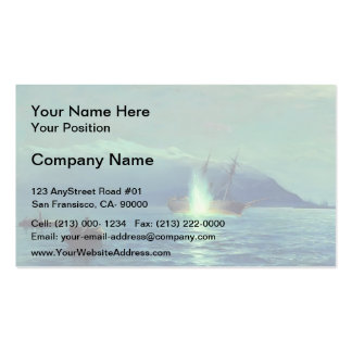 Lev Lagorio- Sinking the Turkish steamer by boats Business Card Templates