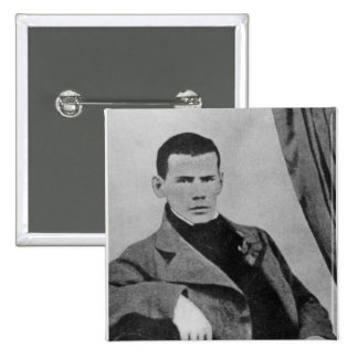 Lev Nikolaevich Tolstoy  as a student 2 Inch Square Button