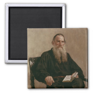 Lev Tolstoy  1887 2 Inch Square Magnet