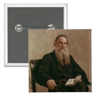 Lev Tolstoy 1887 Pin Cuadrado