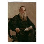 Lev Tolstoy 1887 Tarjeta De Felicitación