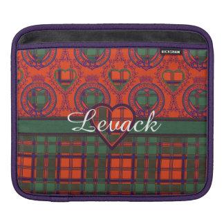 Levack clan Plaid Scottish kilt tartan iPad Sleeve