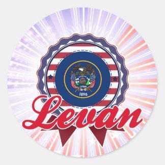 Levan UT Round Stickers