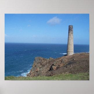 Levant Mine Cornwall England Photo Poster
