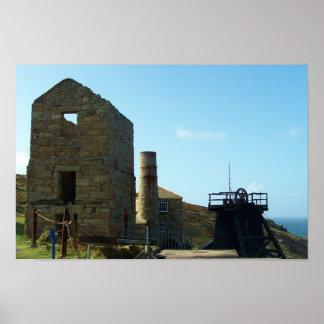Levant Mine Cornwall England Poster