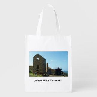 Levant Mine Cornwall England Reusable Grocery Bag