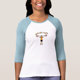 Levantador de peso (luz) camiseta
