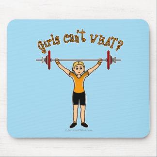 Levantador de peso (rubio) mousepad
