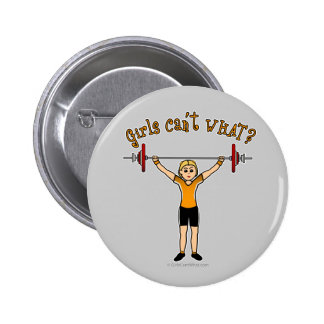 Levantador de peso (rubio) pin