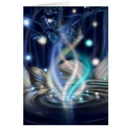 Levantamiento de la aurora tarjeta de felicitación