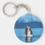 Levantamiento de la ballena jorobada llavero personalizado