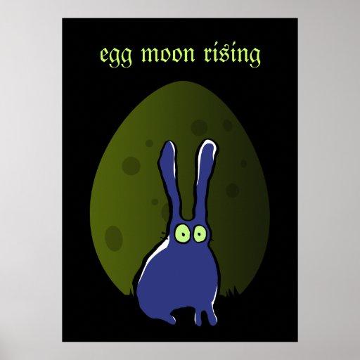 levantamiento de la luna del huevo póster