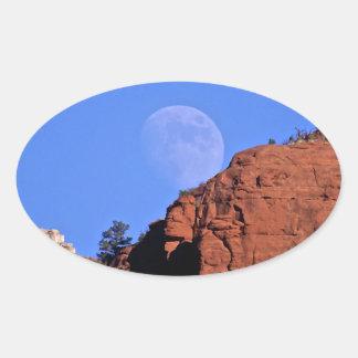 levantamiento de la Luna Llena Pegatinas Óvales