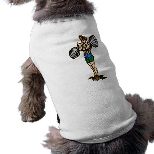 Levantamiento de pesas camisa de mascota