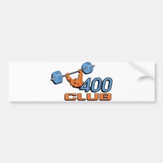 Levantamiento de pesas de 400 clubs pegatina para auto