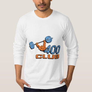 Levantamiento de pesas de 400 clubs playera