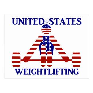 Levantamiento de pesas de los E.E.U.U. - Powerlift Postales