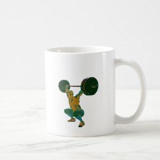 Levantamiento de pesas de los hombres, aptitud, ca tazas de café