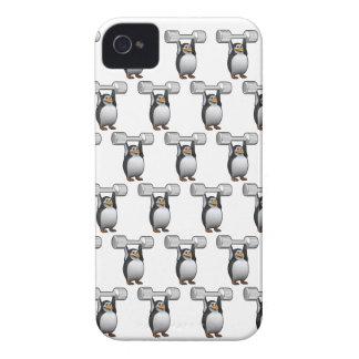 levantamiento de pesas de los pingüinos 3d (BG Edi iPhone 4 Case-Mate Protector