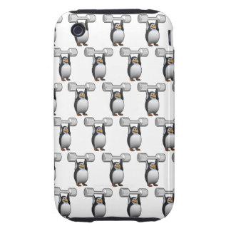 levantamiento de pesas de los pingüinos 3d (BG Funda Though Para iPhone 3