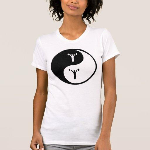 Levantamiento de pesas de Yin Yang Camiseta